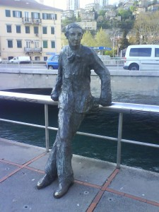 Kamov statue in Rijeka
