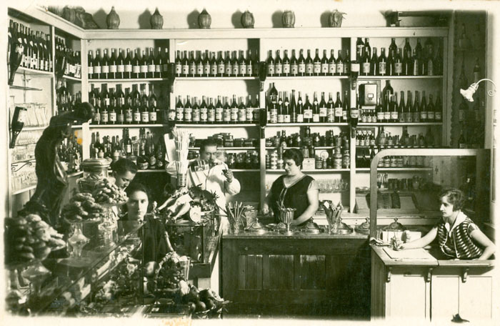 The interior of Josip Smerdel's shop in Sušak.