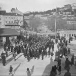 Sailors of the Entente powers cross the Rječina into Sušak